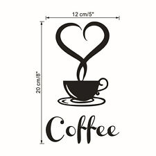 Coffee Cup Decals  Vinyl Wall Sticker DIY Kitchen Home Decor Paper Art Removable