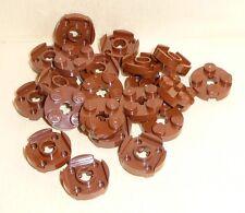 Nr.7074 Lego 4032 City 20 Platten rund 2x2   braun  -  reddish brown