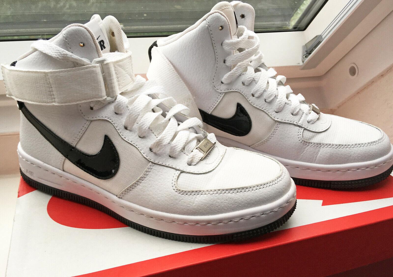Nike Air Force 1 Ultra Force Mid Turnschuhe 36,5 schwarz weiß leder canvas