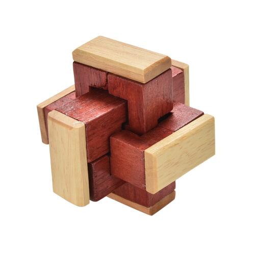 Kongming//Luban Lock Chinese Wooden Brain Teaser 6 Sticks Educational Adult T/_DR
