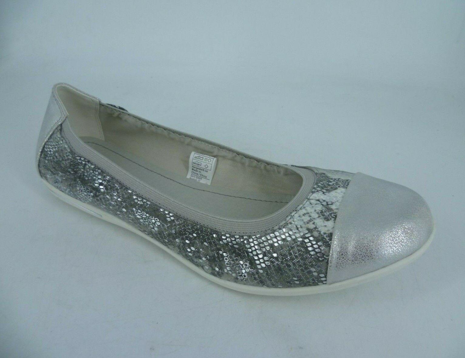 Dockers By Gerli Ladies Ballet Pumps Silver UK 8 EU 42 LN46 25
