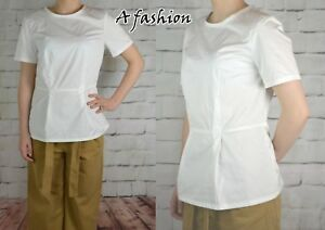 NEXT-NEW-LADIES-TAGGED-24-WHITE-WORK-WEAR-MEMORY-BLOUSE-TOP-669