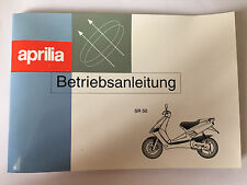 New Genuine Aprilia SR 50 Operating Manual (Betriebsanleitung) AP8201964 (MT)