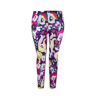 My Little Pony MLP Toss Ponies All Over Licensed Leggings S-XL