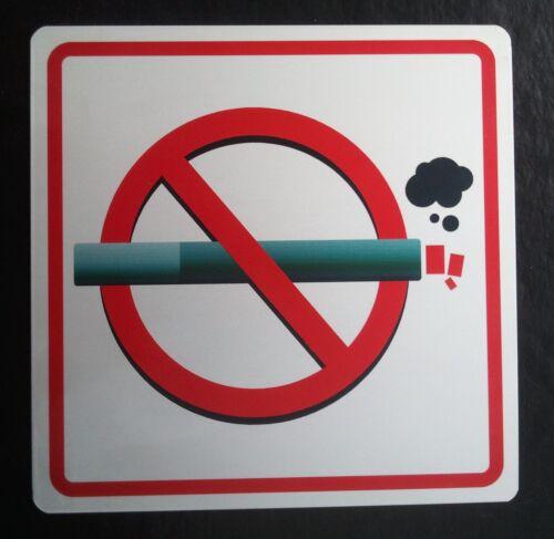 Plaque Interdiction de fumer en aluminium anodisé Défense de fumer