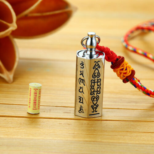 Vintage Shurangama Mantra Pendant Necalce Men Good Luck Tibetan Buddhist Canon