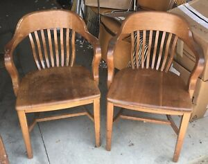 (2) Vintage Lawyer's / Juror's Chairs | eBay