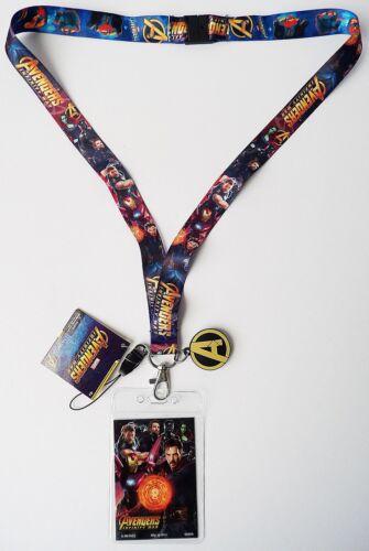 "Avengers Infinity War Lanyard with /""A/"" Logo Dangler 68973 Marvel"