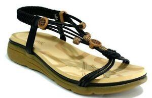 LADIES-SUMMER-SANDALS-CUSHIONED-LOW-HEEL-SLING-BACK-FLAT-BEACH-SHOES-NEW-3-8