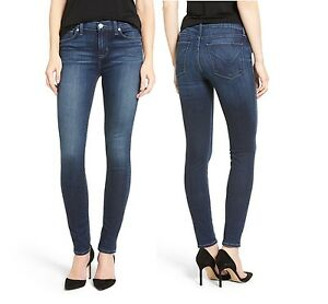 New Hudson Brand Women Krista Faux Leather Super skinny Stretchy Denim Jeans