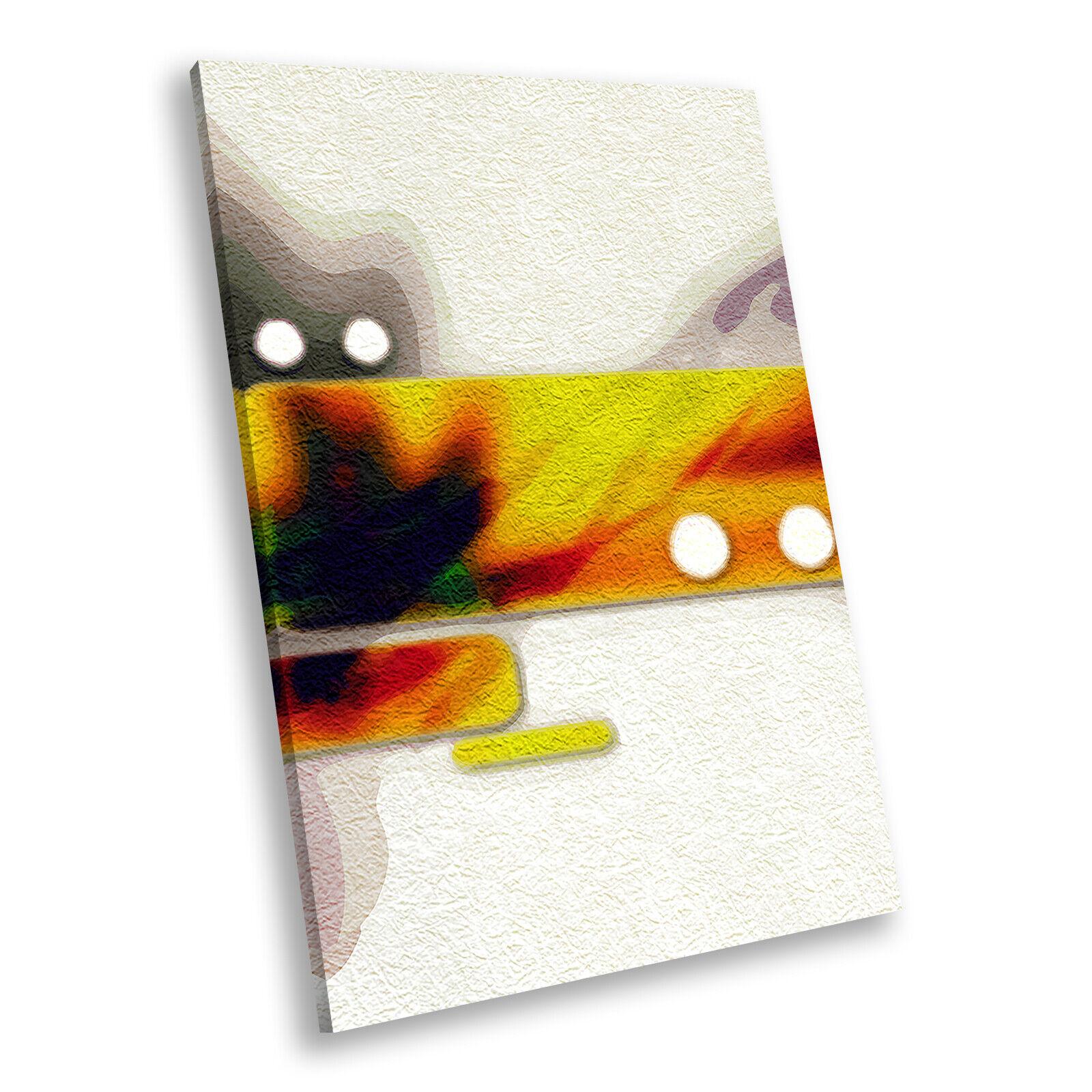 Orange grau lila Portrait Abstract Canvas Framed Art Large Picture