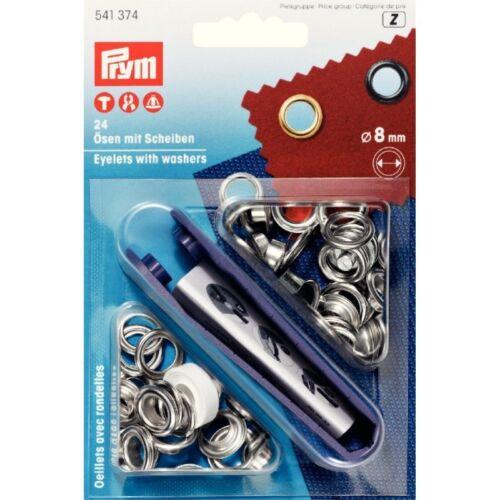 11 mm /& 14 mm 8 mm 5 mm Prym Œillets Avec Fixation Outil Starter Kit 4 mm