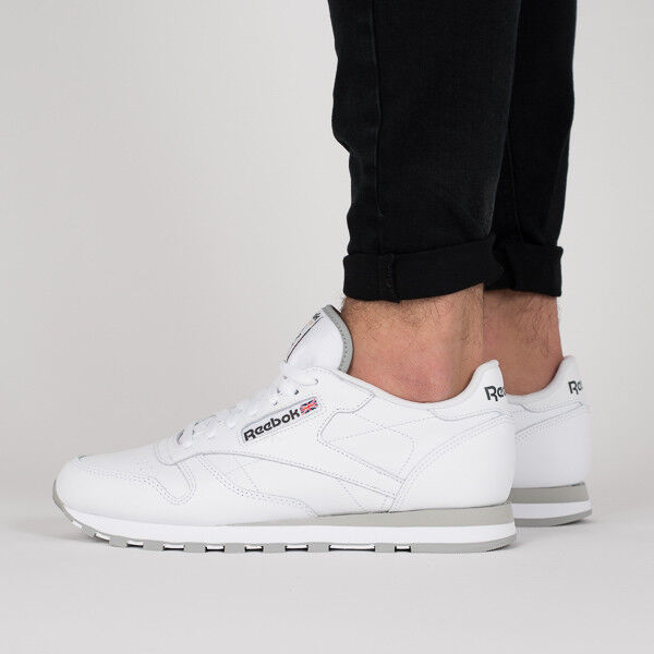 Reebok Classic CL LTHR 2214 White Leather Trainers 9 for sale online ... f7818f029090