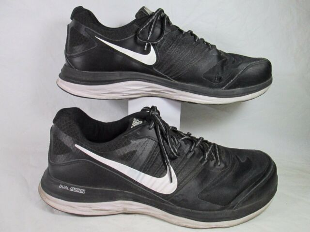 quality design acfac 37af6 Nike DUAL FUSION X Breathable Mesh Running Shoes Black Sz 12-M