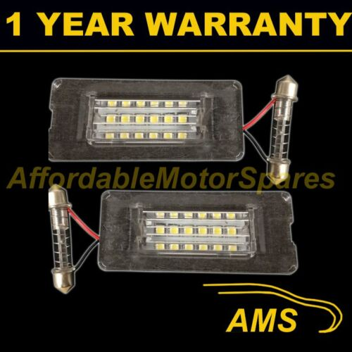 2X FOR BMW Mini R55 R56 R57 R58 R59 2006-2013 18 WHITE LED NUMBER PLATE LAMPS