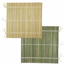 """Japanese 9.5"""" (24 cm) Professional Bamboo Sushi Rolling Stick Mat, Made in Japan"""