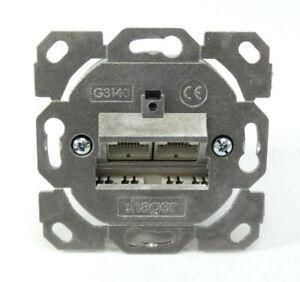 Hager-tehalit-Datenanschlussdose-2-fach-G3140-207829-NEU-in-OVP
