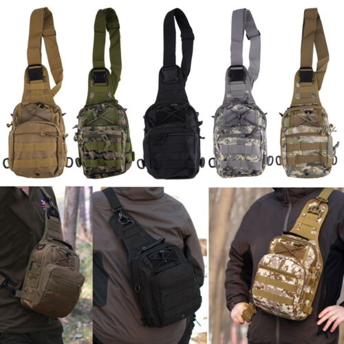 Outdoor Molle Sling Military Shoulder Tactical Backpack Camping Travel Bags GN