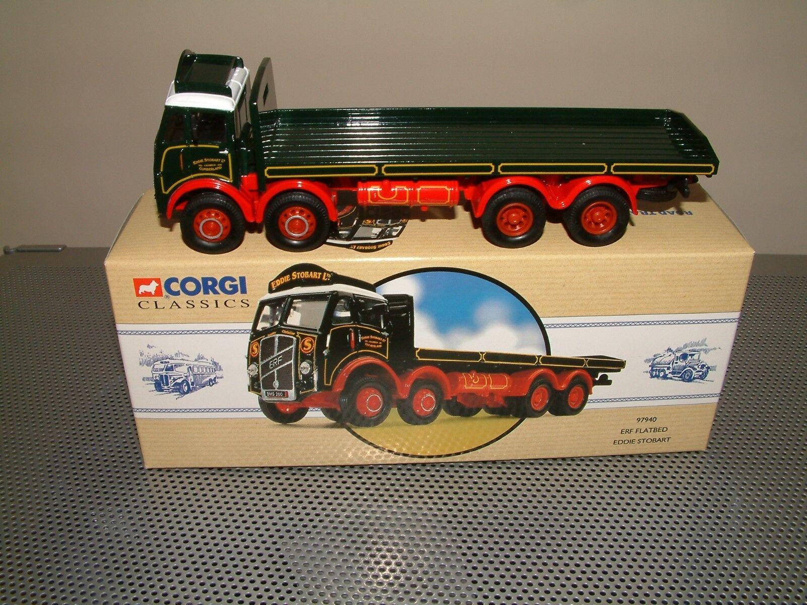 CORGI 97940 ERF Flatbed Eddie Stobart