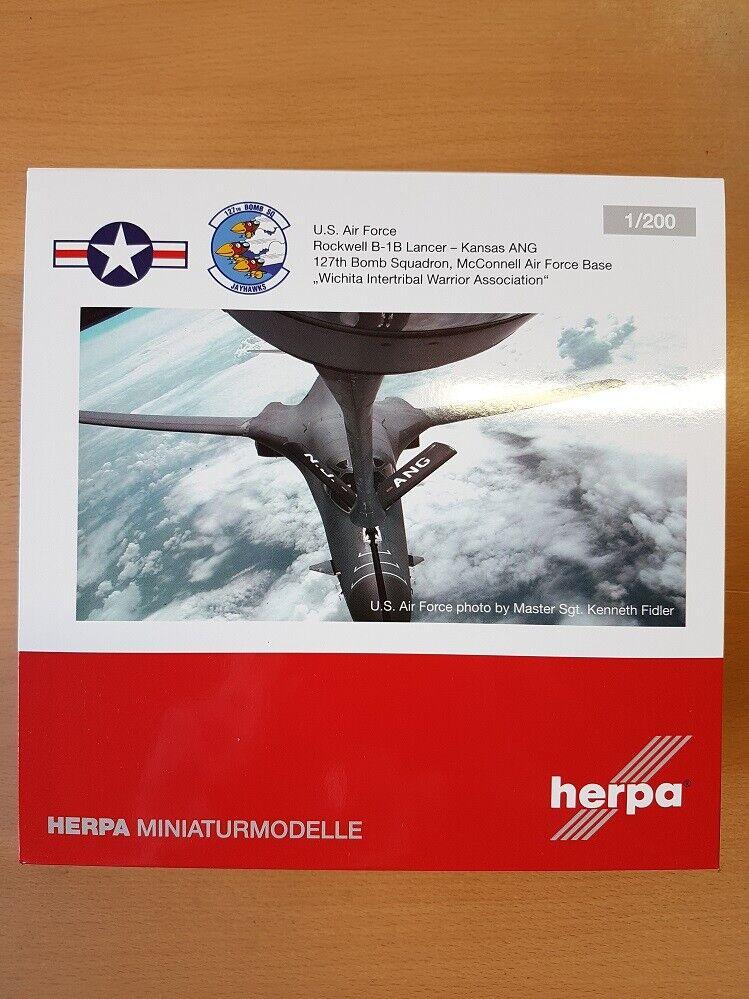 Herpa 559263 - 1 200 u.s. air force Rockwell b-1b lancer-Kansas ang-nuevo
