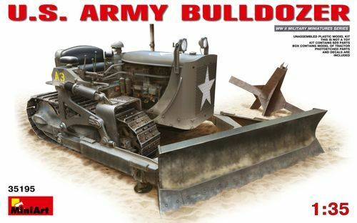 Miniart 1/35 Us Army Bulldozer #35195