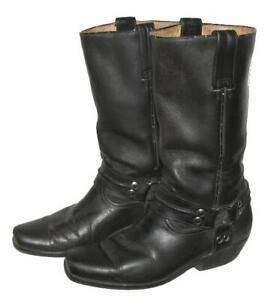 """fertige"" Herren- Bikerstiefel / Stiefel / Western- Boots in schwarz Gr. 41"