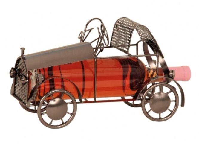 Wein-Flaschenhalter 'Oldtimer' h19cm b32cm Vatertag Wein Metall Gastgeschenk   Auktion    Authentische Garantie