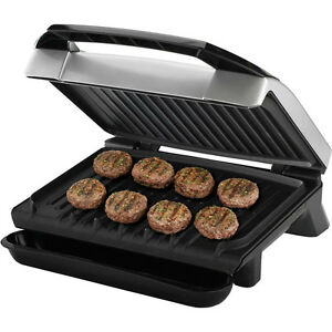 silver indoor itm grill platinum countertop george foreman countertops cooker electric ebay s bbq