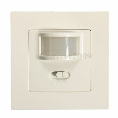 2in1 Manual On/Off Auto Infrared PIR Motion Sensor Switch Recessed Wall Light