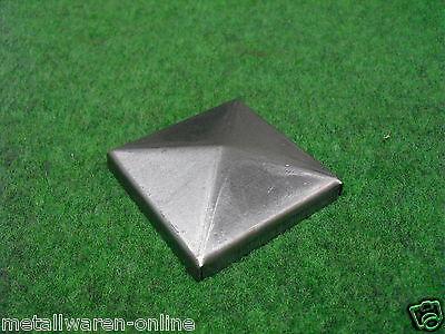 Abdeckkappe Blech roh - Rechteck Quadrat Vierkant Metall Profil Stahl Deckel
