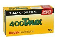 5 Rolls Kodak Tmy-120 Tmax-400 Iso 400 Professional Black & White Print Film