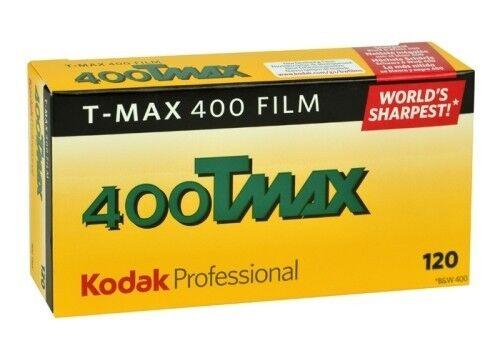 3 Rolls Kodak TMY-120 TMAX-400 ISO 400 Professional Black & White Print Film
