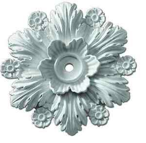 Beaumont-Smooth-Ceiling-Medallion-Ceiling-Light-Flower-Decor-Pre-Primed-Rosette