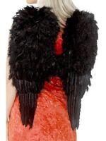Black Feather Wings - Halloween Dark Angel Fancy Dress - 60cm x 50cm - 20900