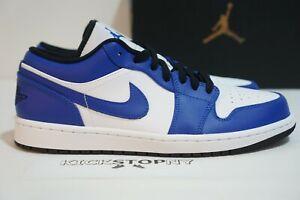 Details about Nike Air Jordan Retro 1 LOW Game Hyper Royal Blue White Black  553558-124 Mens