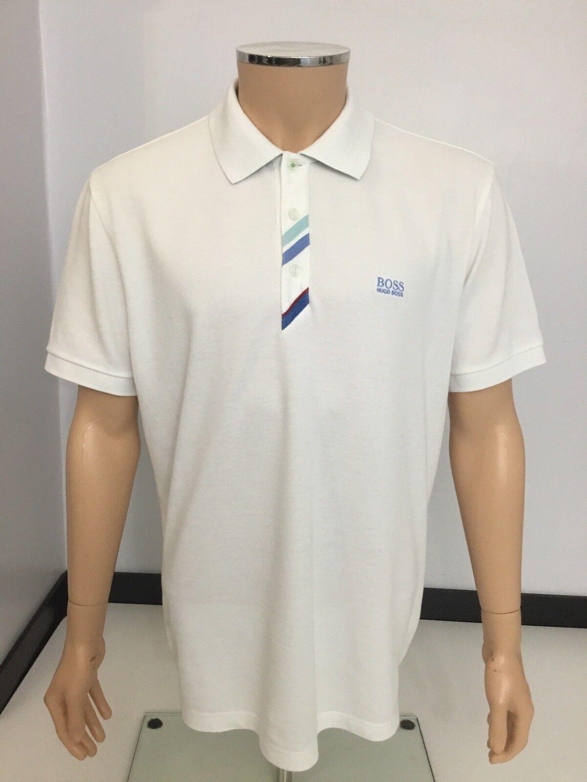 Hugo BOSS Patrick Patrick Patrick Uomo Polo T Shirt, XL, bianco, in buonissima condizione c0af7e