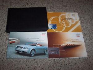 2004 audi s4 convertible cabriolet owner manual user guide quattro rh ebay com 2004 Audi S4 Quattro 2004 Toyota Yaris Sedan