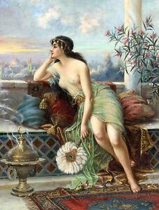 Congratulate, beautiful woman oil painting