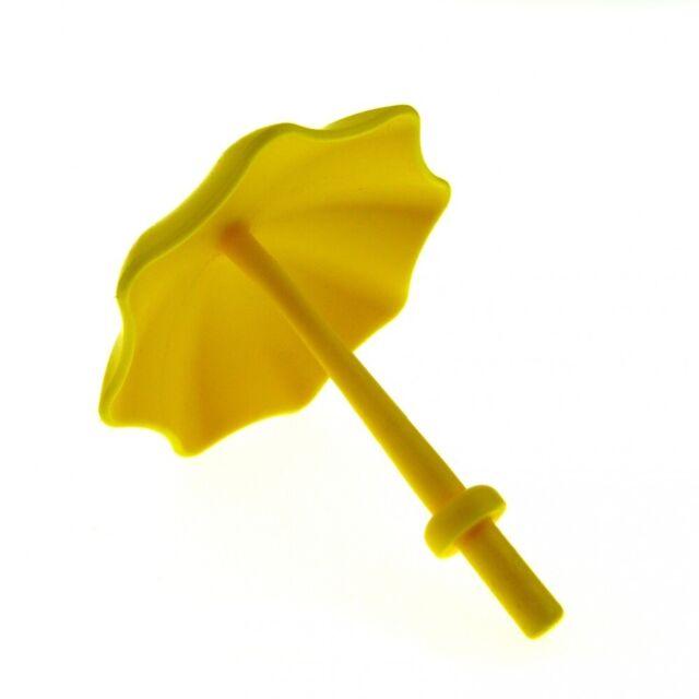 1 x Lego Duplo Schirm gelb mit Stop Ring Kinderwagen Garten Sonnen Regenschirm P