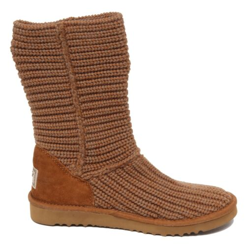 no suede Boot Scarpe Stivale Woman Ugg Donna Light Shoe Brown Box F0214 Wool dFwRgd