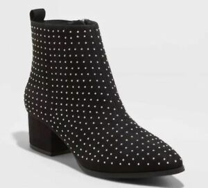 A New Day™ BLACK 7.5W 11 Details about  /Women/'s Valerie Microsuede City Ankle Bootie