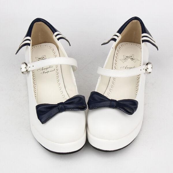 Lolita Damen Halb-schuhe Ballerina Plateau Kostüm Anime girl sailor moon uniform