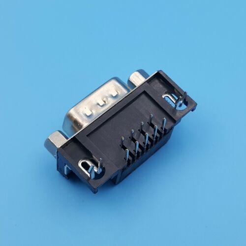 10Pcs DB9 mâle RS232 Série 9Pin angle droit PCB Solder Socket Connecteur