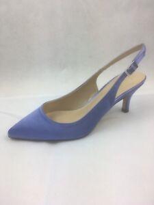 e4ee0354314 Image is loading Ladies-Lotus-Zandra-Purple-Satin-Pointed-Toe-Slingback-