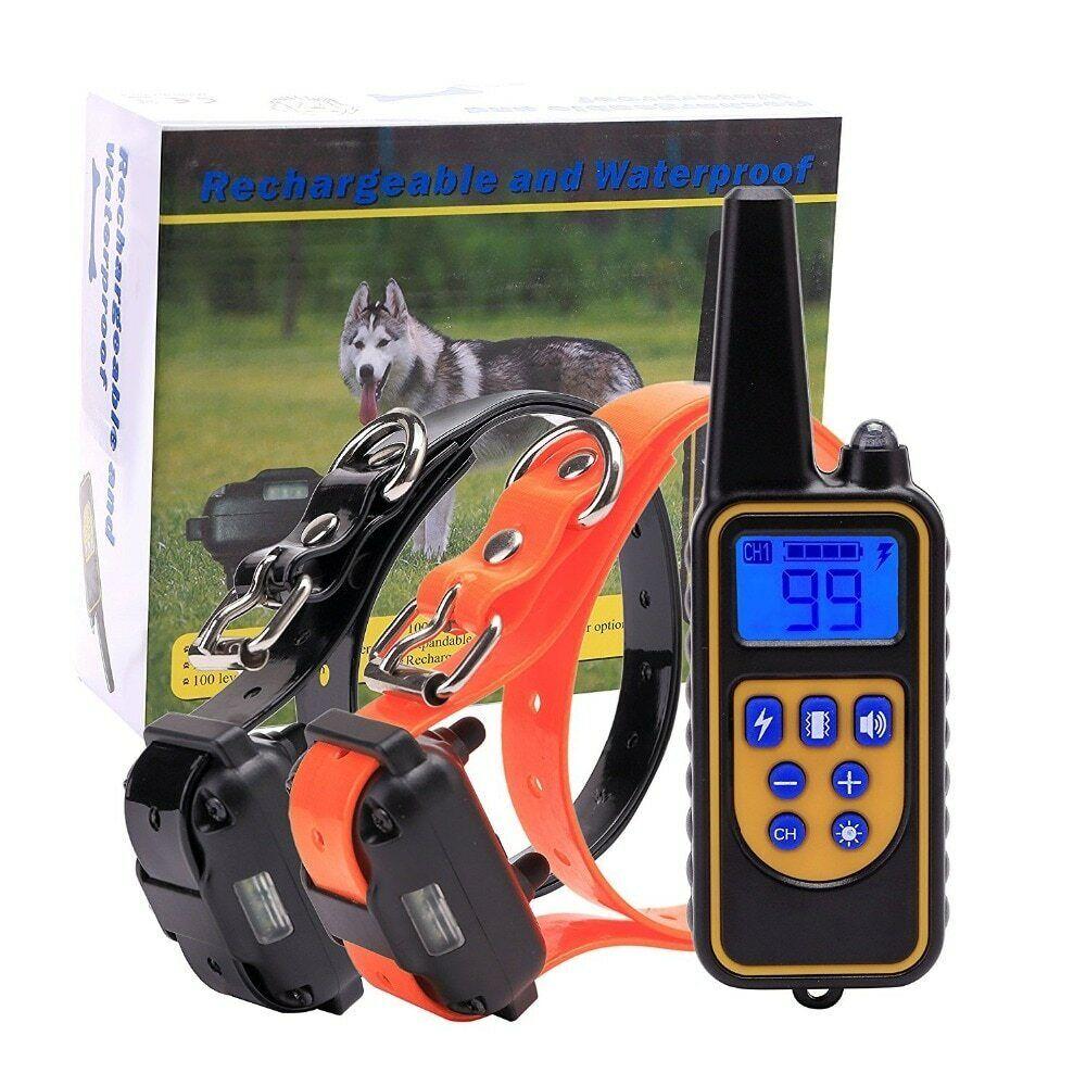Collier de dressage de  en électrique 800 m télécommande pour animaux de