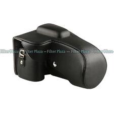 Deluxe Leather Camera Case Bag for Nikon DSLR D5100 D5200 18-55mm /18-105mm Lens