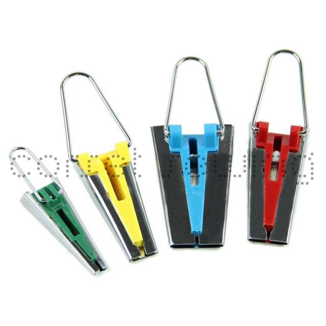Bias Tape Maker Set 6mm 12mm 18mm 25mm Handy Sewing Gadget Garment Binding Tool