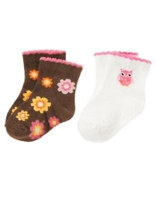 GYMBOREE BLOSSOM KITTY FLOWER N KITTY 2-PAIR OF GIRLS SOCK 0 3 6 12 18 NWT