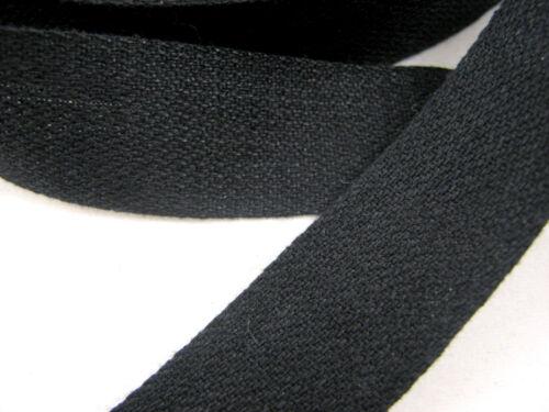 19 Mm Negro O Blanco 100/% Algodón EMPAVESADO Cinta 13mm 25 Mm Rollos Completos Algodón Cinta