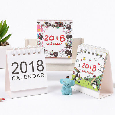 """Go Party"" 1pc 2018 Mini Cute Desk Calendar Table Agenda Scheduler Study Planner"